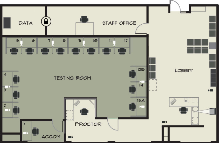 Test centre floor plan